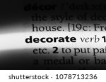 decorate word in a dictionary.... | Shutterstock . vector #1078713236