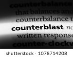 Small photo of counterblast word in a dictionary. counterblast concept