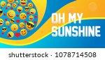 emoji greeting card or label... | Shutterstock .eps vector #1078714508