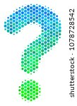 halftone circle question icon.... | Shutterstock .eps vector #1078728542