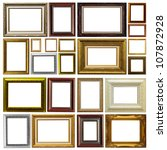 antique frame isolated on white ... | Shutterstock . vector #107872928