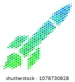 halftone round spot missile... | Shutterstock .eps vector #1078730828
