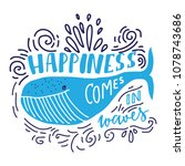 happiness comes in waves. hand... | Shutterstock .eps vector #1078743686