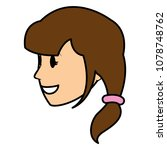 color woman head with hairstyle ... | Shutterstock .eps vector #1078748762