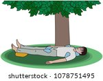 first aid for heat stroke   Shutterstock .eps vector #1078751495