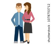 couple woman and man together... | Shutterstock .eps vector #1078753712