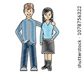doodle happy couple together... | Shutterstock .eps vector #1078756322