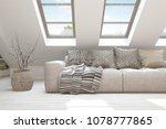 idea of white minimalist room... | Shutterstock . vector #1078777865
