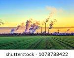industry complex in frankfurt... | Shutterstock . vector #1078788422