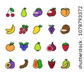 color line icon set of fruit....   Shutterstock .eps vector #1078793372