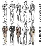 fashion man. set of fashionable ... | Shutterstock . vector #1078801265