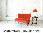 classical style armchair sofa... | Shutterstock . vector #1078814726