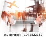 double exposure businessman...   Shutterstock . vector #1078822352