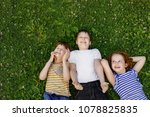 cute children resting on the... | Shutterstock . vector #1078825835