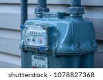 residential natural gas meter... | Shutterstock . vector #1078827368