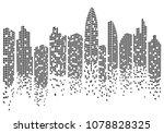 city skyline background vector... | Shutterstock .eps vector #1078828325