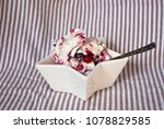 Bowl With Ice Cream With Fores...
