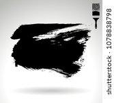 black brush stroke and texture. ...   Shutterstock .eps vector #1078838798