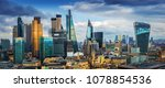 london  england   panoramic... | Shutterstock . vector #1078854536