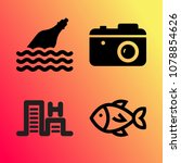vector icon set about travel... | Shutterstock .eps vector #1078854626