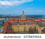 dresden. city landscape with a... | Shutterstock . vector #1078855826