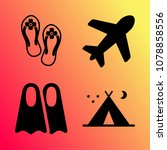 vector icon set about travel... | Shutterstock .eps vector #1078858556