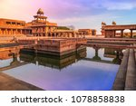 fatehpur sikri agra  india with ... | Shutterstock . vector #1078858838