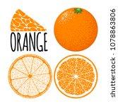 vector template with slice of... | Shutterstock .eps vector #1078863806