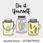 do it youself cartoons concept | Shutterstock .eps vector #1078879952