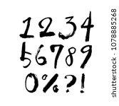 vector fonts   handwritten...   Shutterstock .eps vector #1078885268