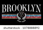 retro style print design.... | Shutterstock .eps vector #1078888892