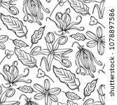 graphic ylang ylang seamless... | Shutterstock .eps vector #1078897586