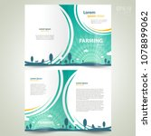 booklet farming theme brochure... | Shutterstock .eps vector #1078899062
