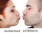 closeup of a young couple ... | Shutterstock . vector #107890076