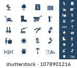vector garden icons | Shutterstock .eps vector #1078901216