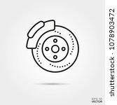 car disc brake vector icon.... | Shutterstock .eps vector #1078903472