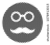 halftone hexagon pension smiley ... | Shutterstock .eps vector #1078913015