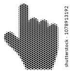 halftone hexagonal pointer...