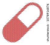 halftone hexagonal medication... | Shutterstock .eps vector #1078916876