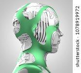 3d rendering  robotics and... | Shutterstock . vector #1078919972