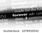 forever word in a dictionary.... | Shutterstock . vector #1078920542