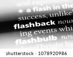 Small photo of flashback word in a dictionary. flashback concept