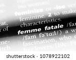 femme fatale word in a... | Shutterstock . vector #1078922102