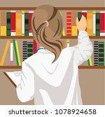 rear view of female doctor... | Shutterstock .eps vector #1078924658
