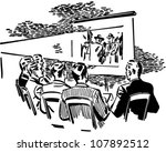 men watching movie   retro... | Shutterstock .eps vector #107892512