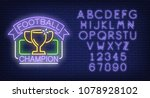 football champion and alphabet... | Shutterstock .eps vector #1078928102
