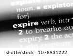expire word in a dictionary.... | Shutterstock . vector #1078931222