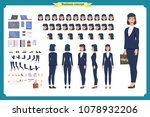 set of businesswoman character... | Shutterstock .eps vector #1078932206
