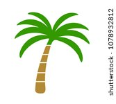vector palm tree illustration   ... | Shutterstock .eps vector #1078932812