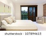 stylish master bedroom in... | Shutterstock . vector #107894615